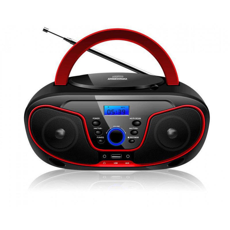 Levně BRAVO CD přehrávač s USB/Bluetooth B-6037 Barva: Červená
