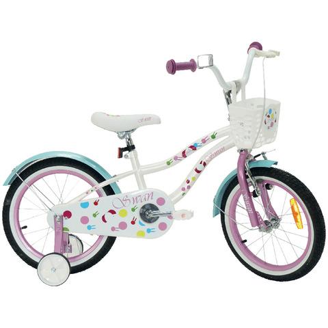 """Dětské jízdní kolo Actim Swan 16"""" bílo-růžovo-tyrkysové 2021 dívčí"""