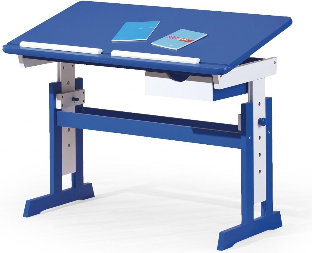 Halmar psací stůl Paco - modrý