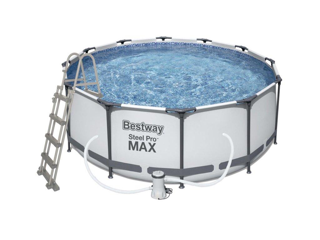 Bestway 56420 bazén Steel Pro Max 3,66 x 1,22 m set (+ kartušová filtrace, schůdky, krycí plachta)