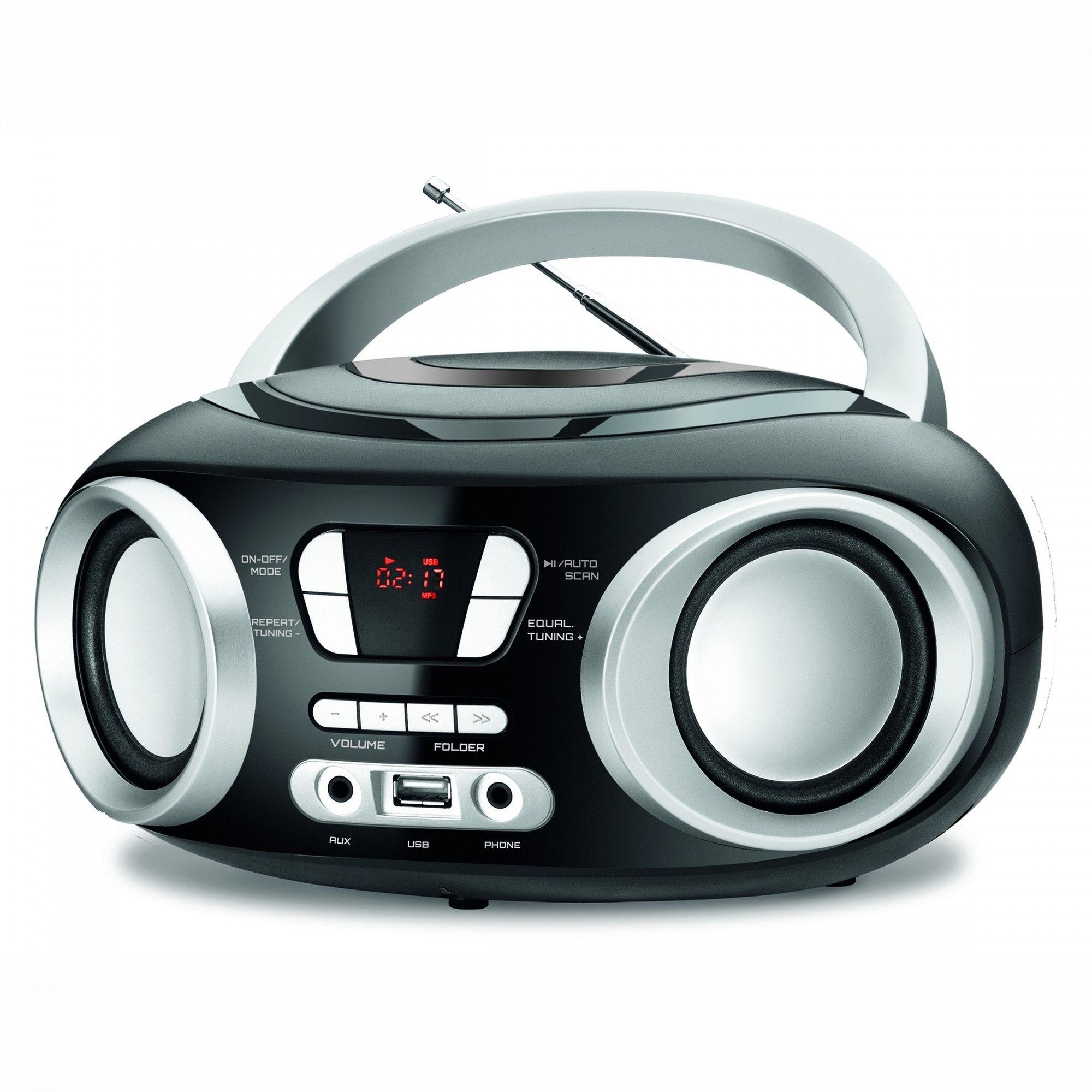 FM radiopřehrávač s USB/MP3/AKU/Bluetooth Navon NPB 200
