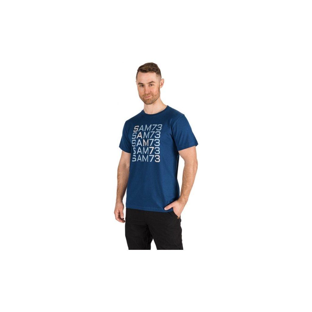 Pánské triko SAM 73 s krátkým rukávem modrá