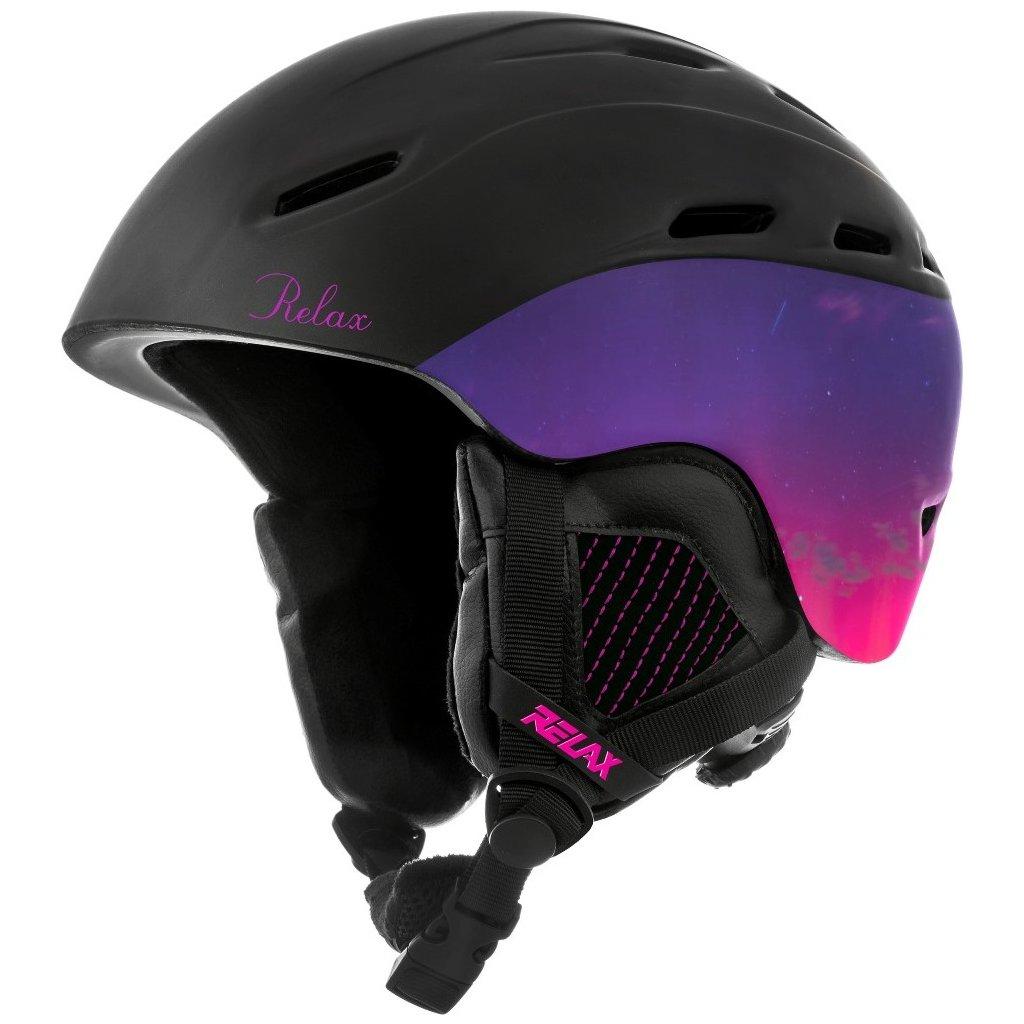 Lyžařská helma RELAX Prevail černá