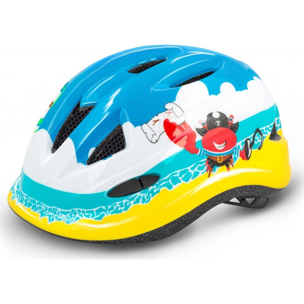 Dětská cyklistická helma R2 Lucky modrá