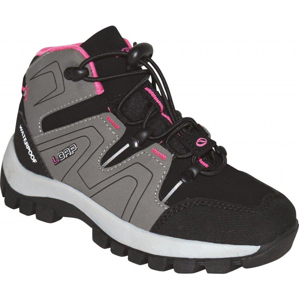 Dětské outdoorové boty LOAP Tarby  šedá