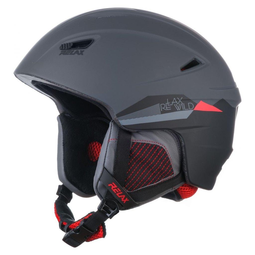 Lyžařská helma RELAX Wild šedá