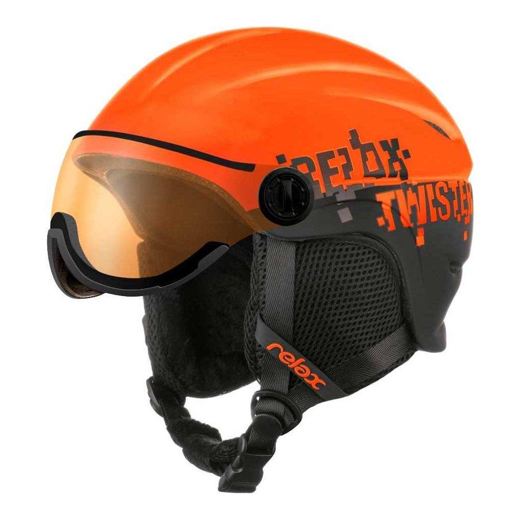 Dětská lyžařská helma RELAX Twister Visor Junior