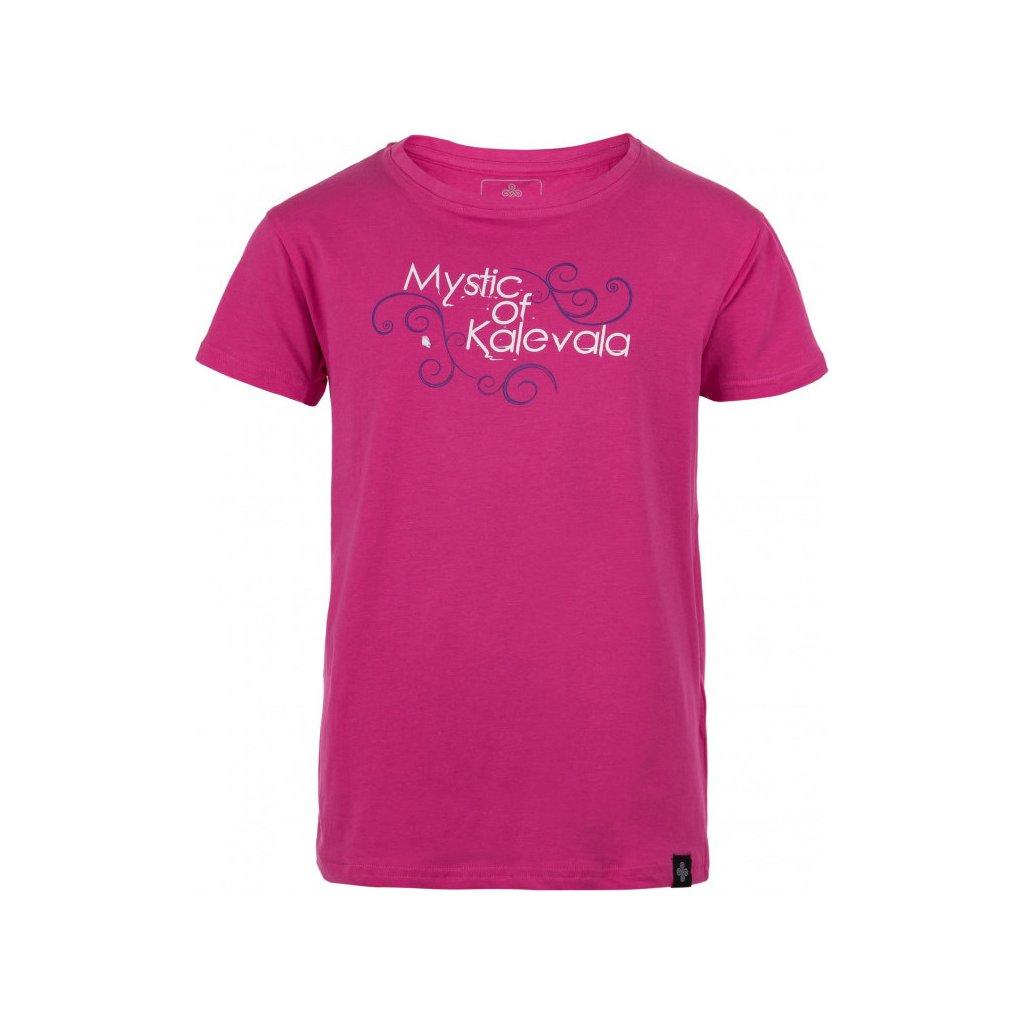 Dívčí bavlněné triko KILPI Barila-jg růžová