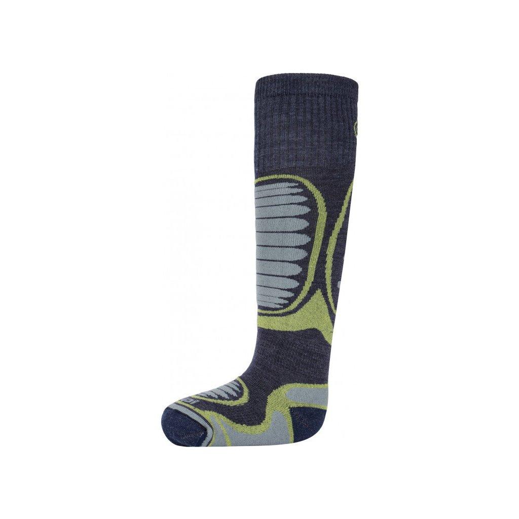 Dětské lyžařské ponožky KILPI Anxo-j světle zelená