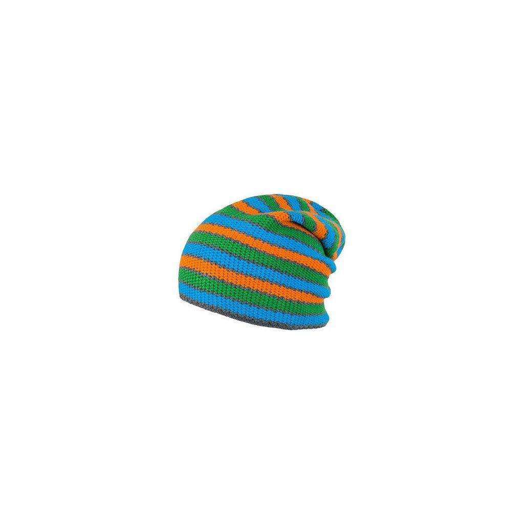 SENSOR ČEPICE STRIPES modrá/zelená/oranžová (Akce B2B)