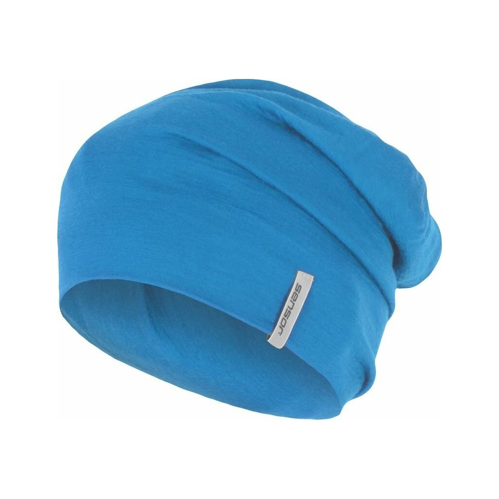 SENSOR ČEPICE MERINO WOOL modrá