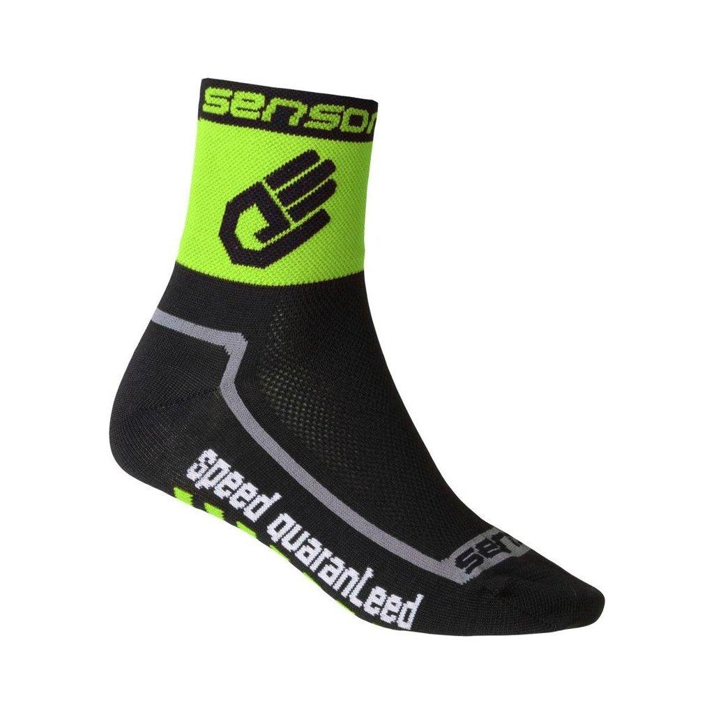 Ponožky SENSOR Race lite hand zelená