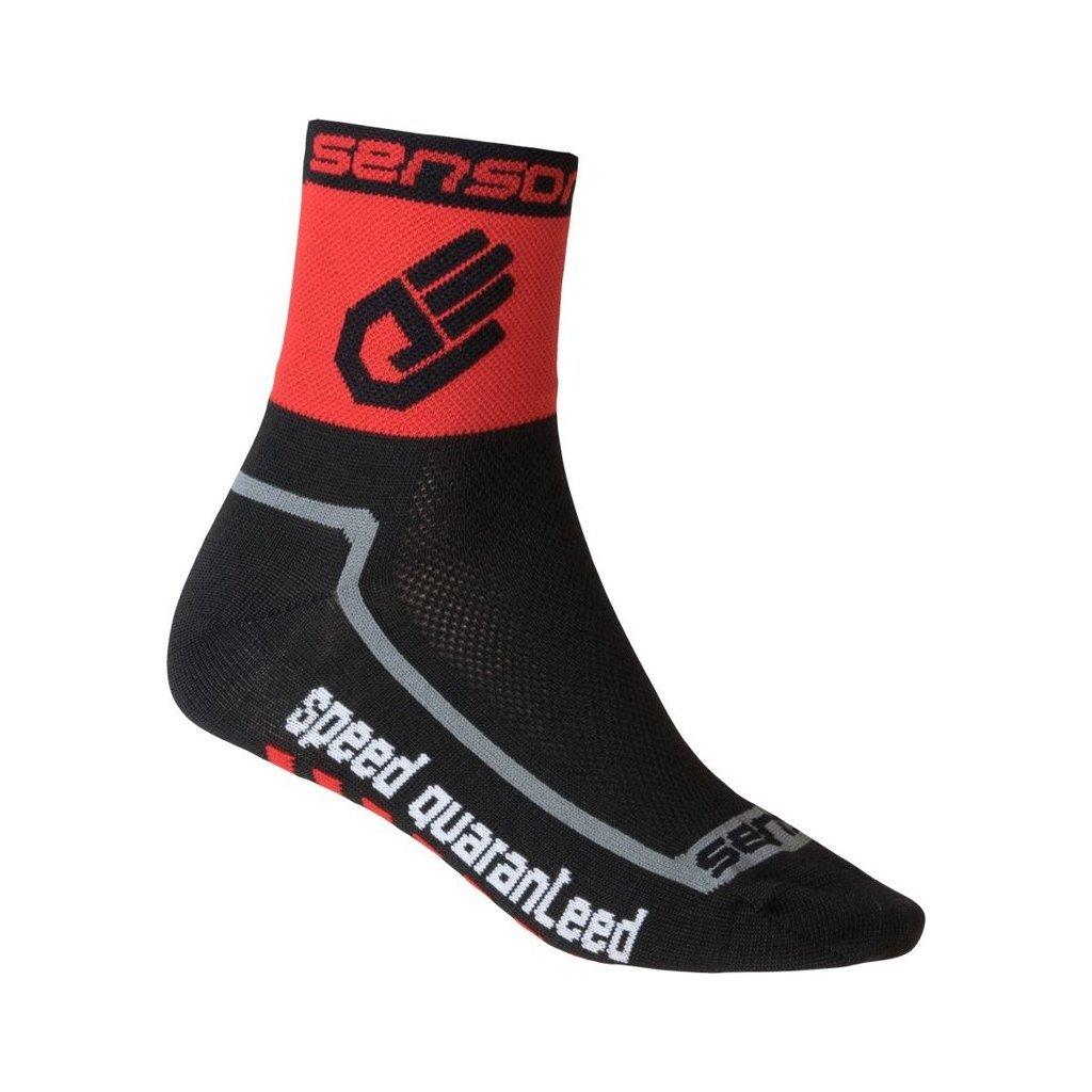 Ponožky SENSOR Race lite hand červená