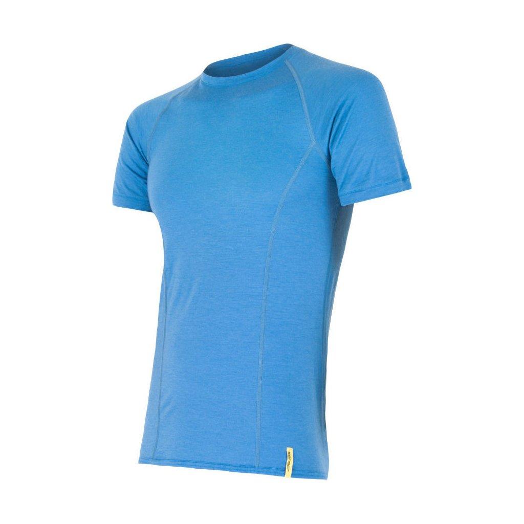 SENSOR MERINO ACTIVE pánské triko kr.rukáv modrá