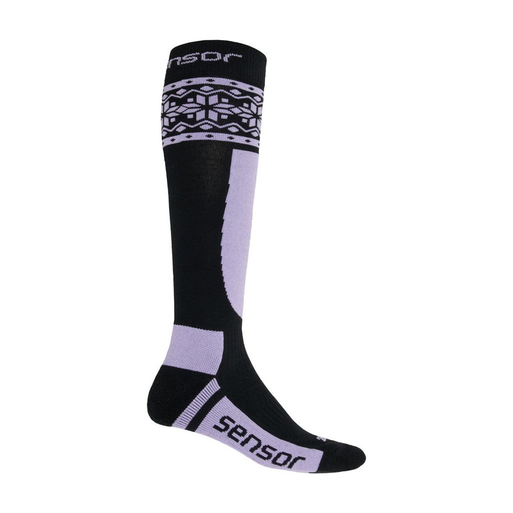 Ponožky SENSOR Thermosnow norway černá/fialová