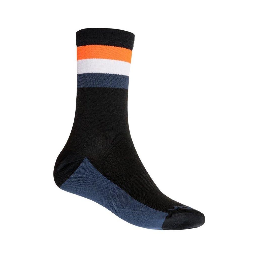 Ponožky SENSOR Coolmax summer stripe černá/oranžová