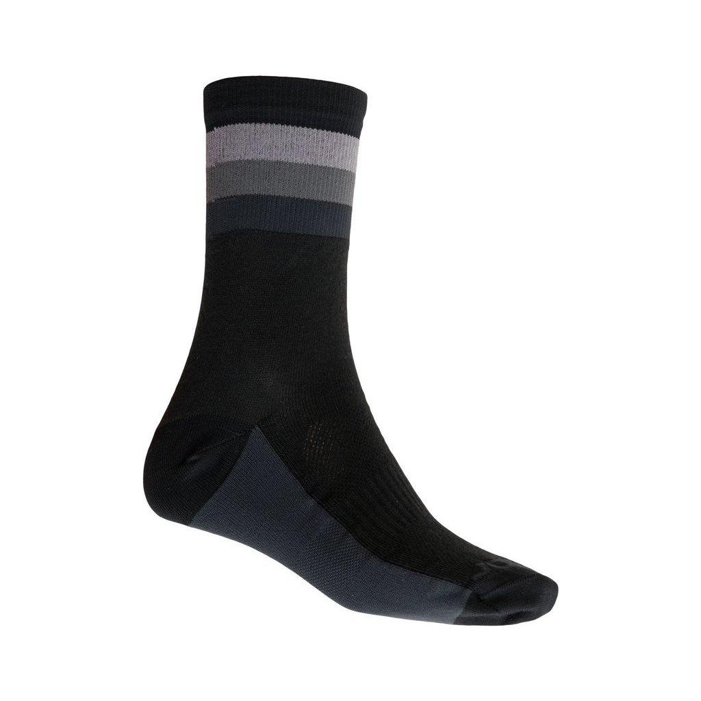 Ponožky SENSOR Coolmax summer stripe černá/šedá