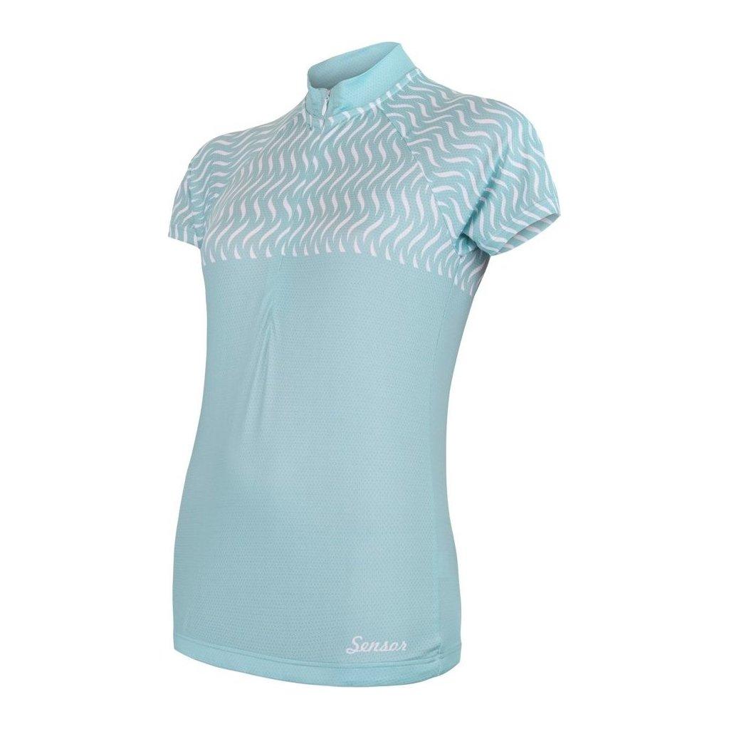 SENSOR CYKLO WAVE dámský dres kr.rukáv mint