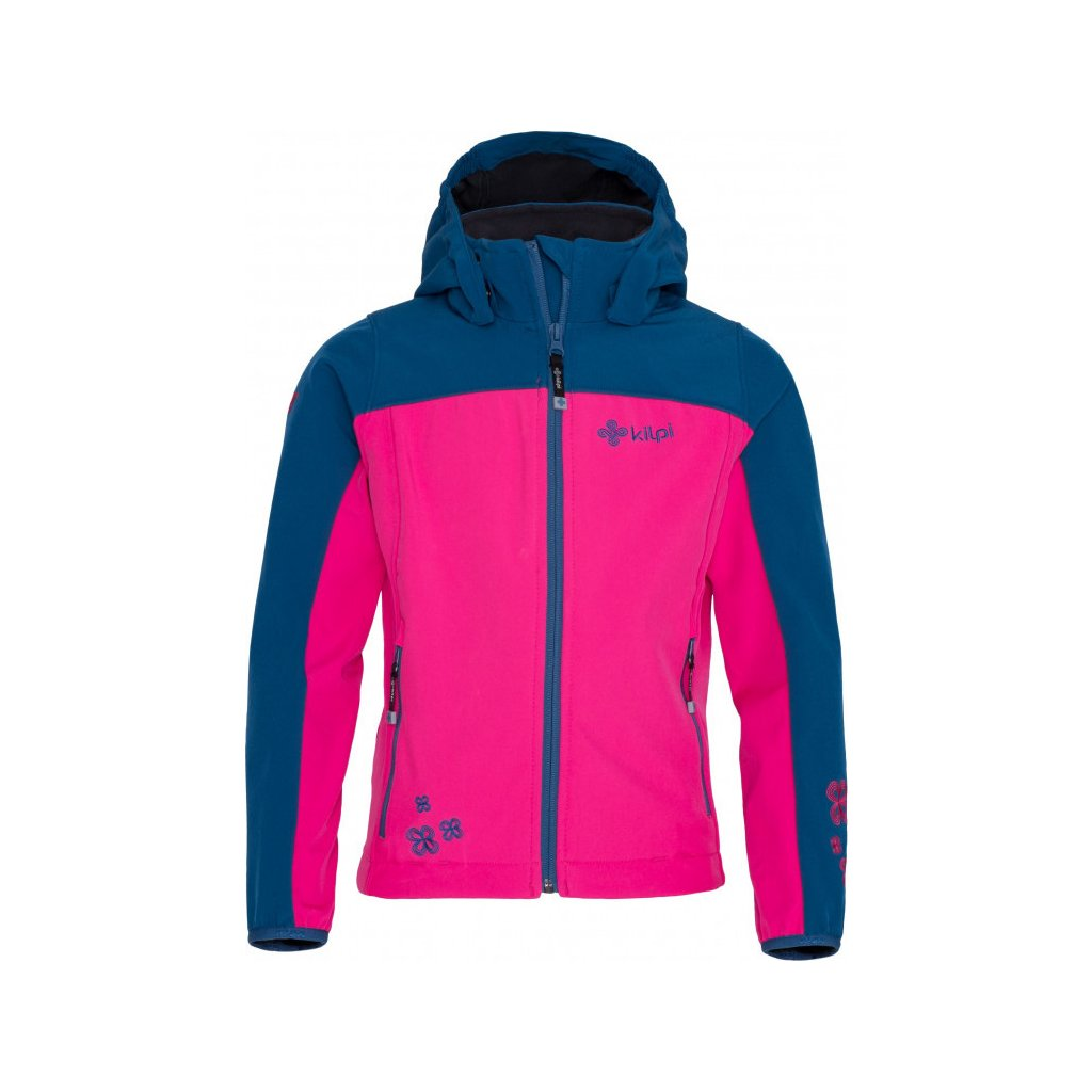 Dívčí softshellová bunda KILPI Elia-j růžová