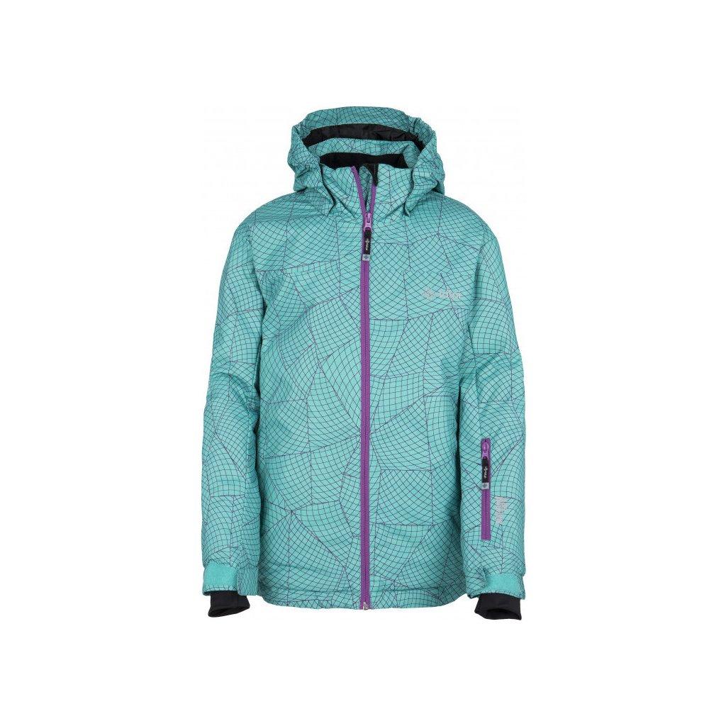 Dívčí lyžařská bunda KILPI Genovesa-jg tyrkysová