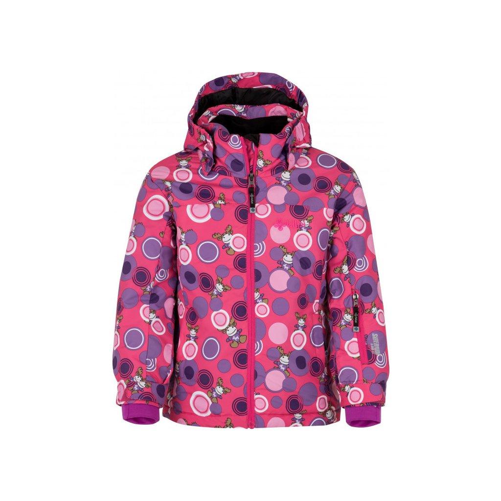Dívčí lyžařská bunda KILPI Genovesa-jg růžová