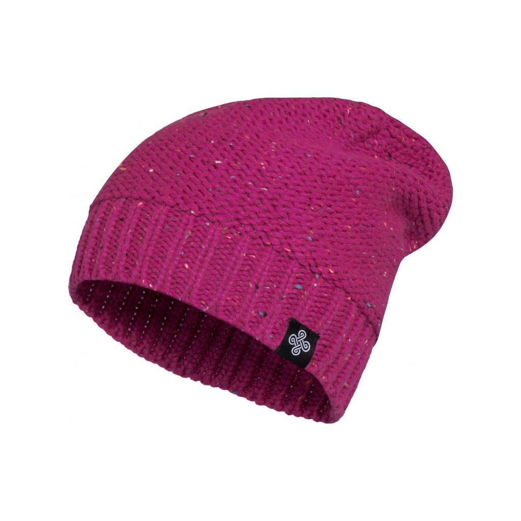 Dámská pletená čepice KILPI Heaven-w růžová