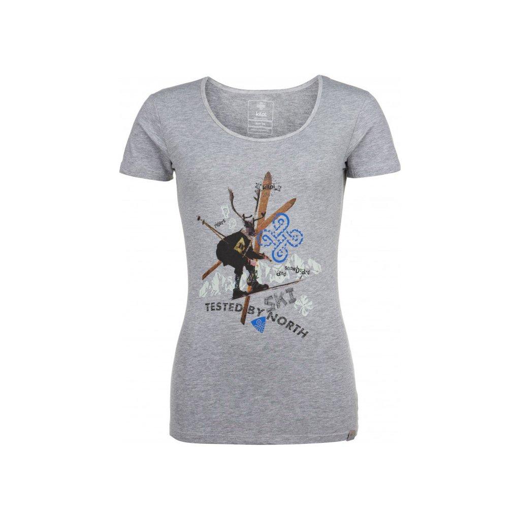 Dámské bavlněné tričko KILPI Funny-w šedá
