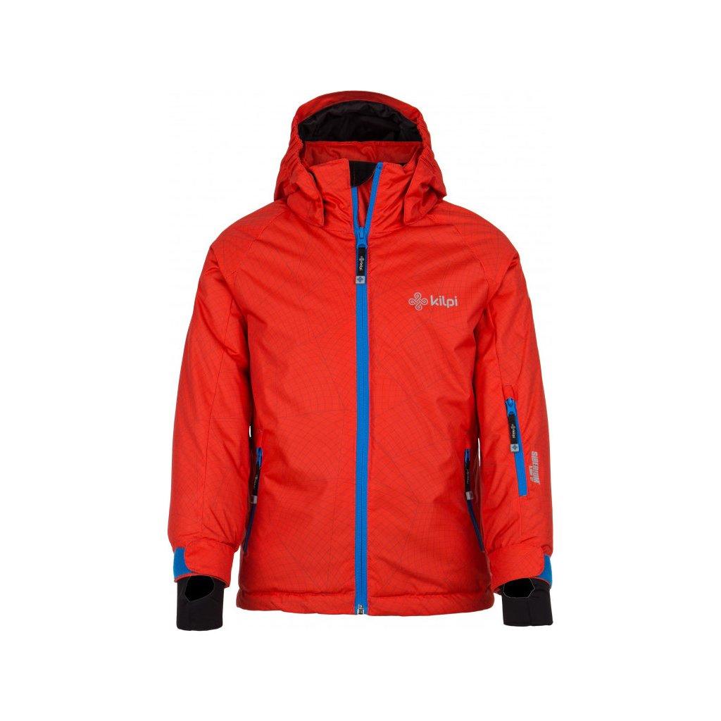 Chlapecká zimní lyžařská bunda KILPI Semeru-jb červená