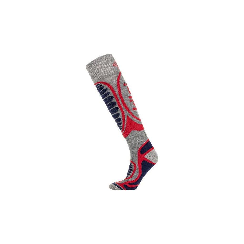 Lyžařské merino ponožky KILPI Anxo-u bílá