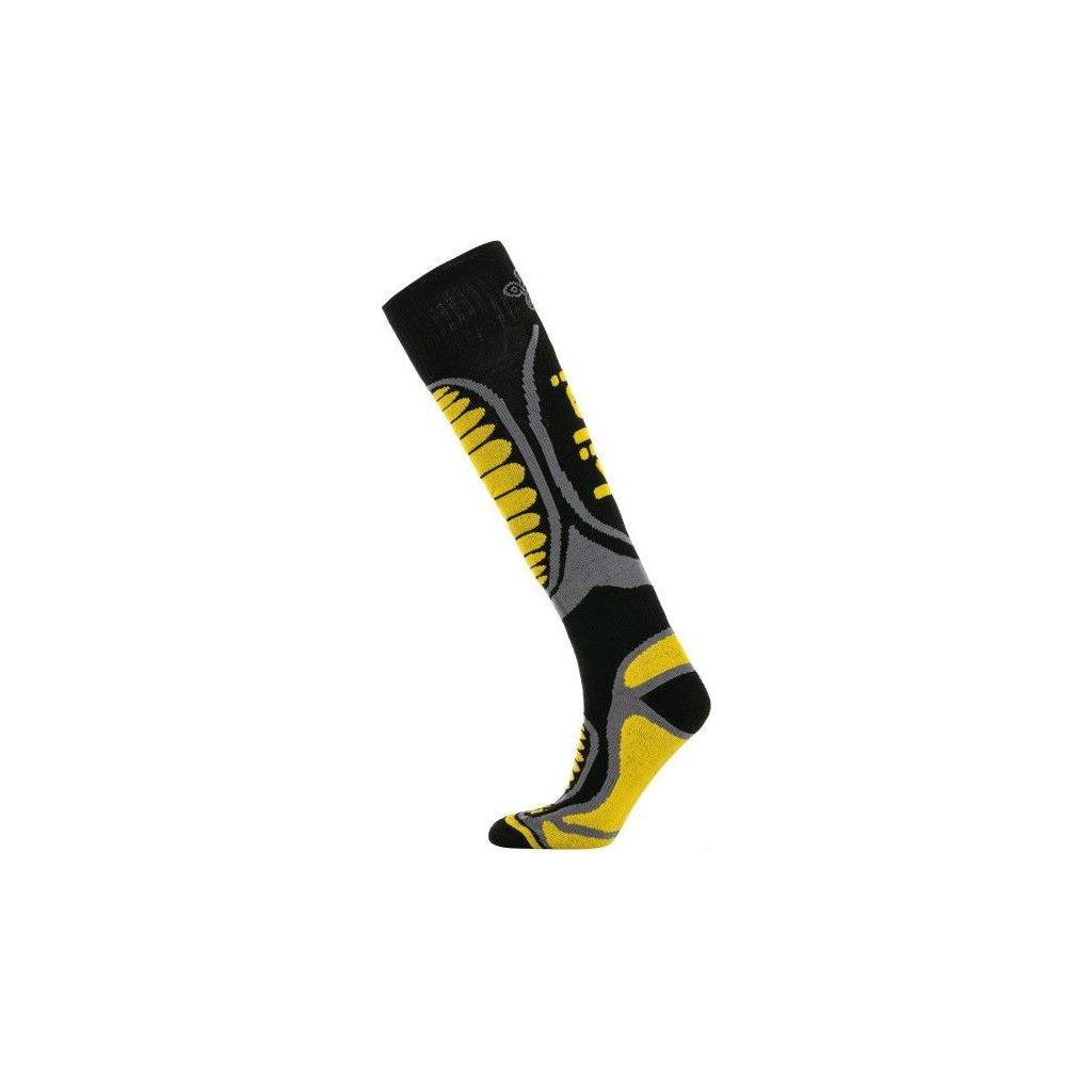 Lyžařské merino ponožky KILPI Anxo-u žlutá