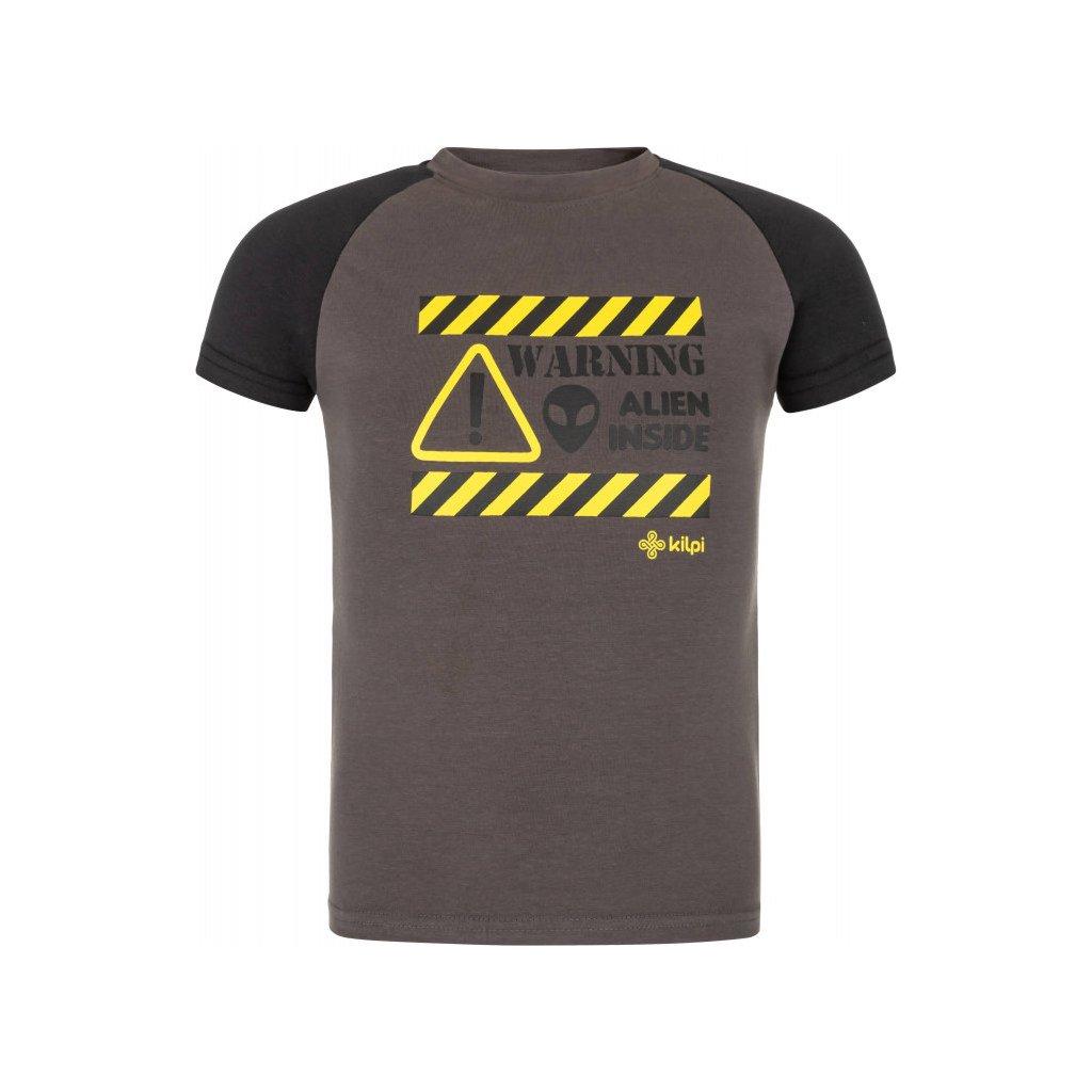 Chlapecké bavlněné tričko KILPI Salo-jb tmavě šedá