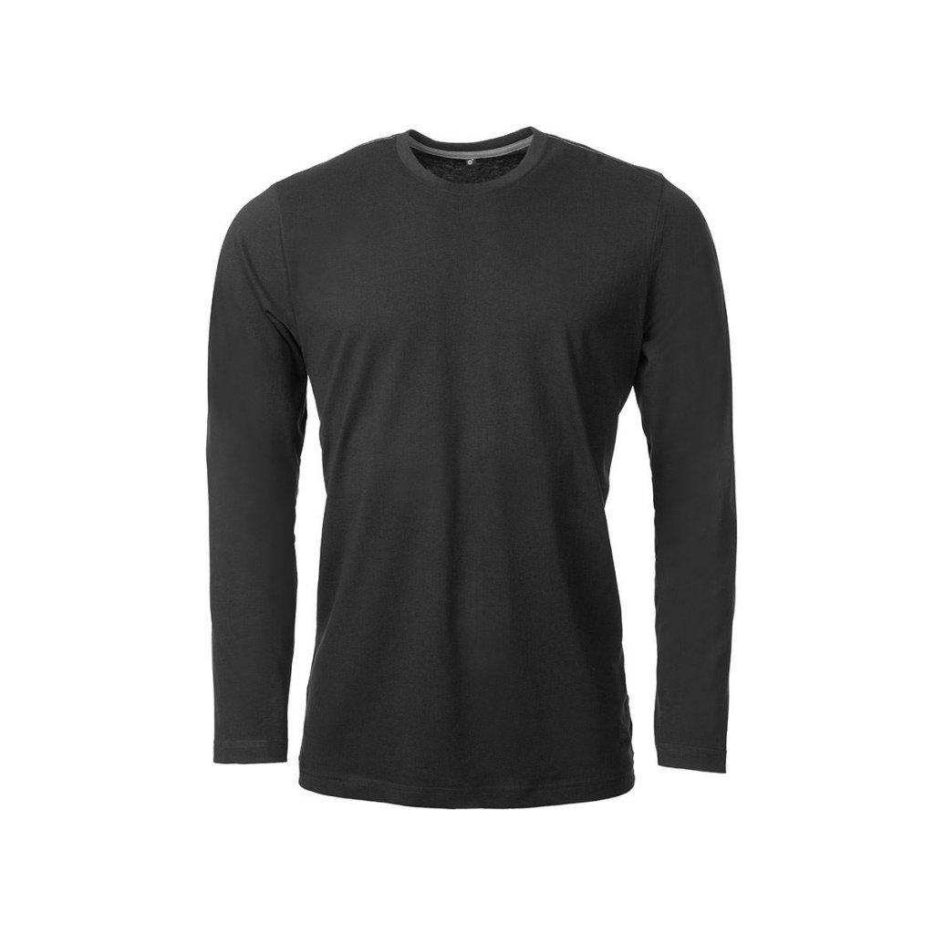 Pánské bavlněné triko O'STYLE Uni-long černé