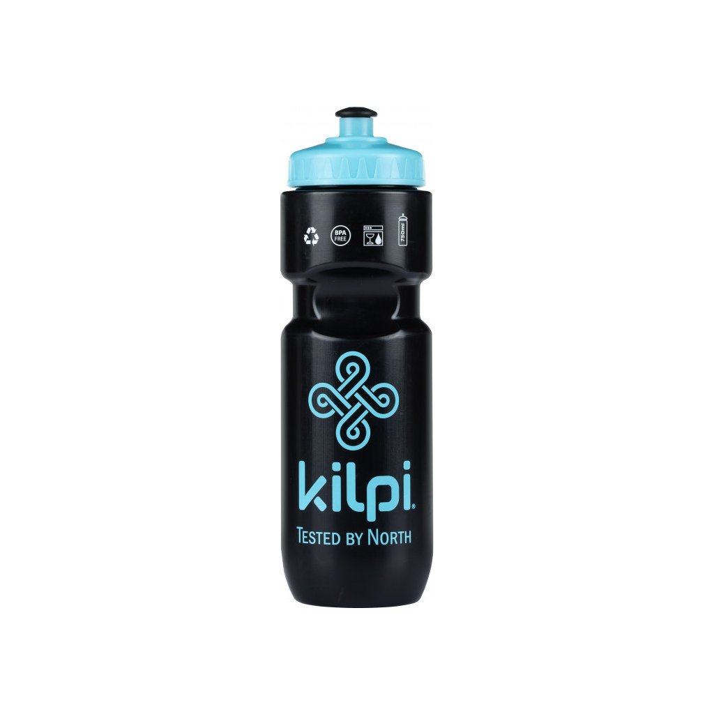 Cyklistická lahev KILPI Ketoi-u černá 700ml