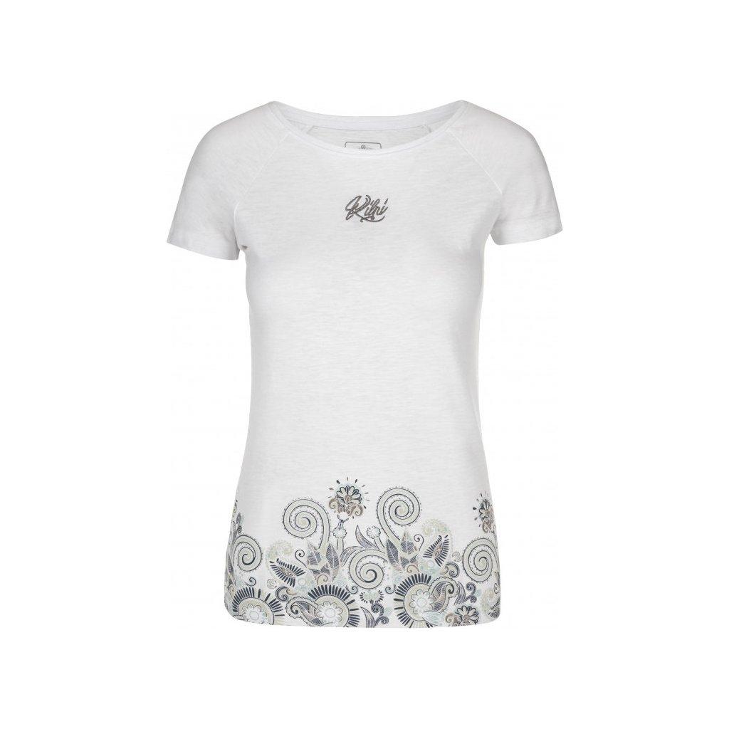 Dámské bavlněné triko KILPI Mint-w bílá