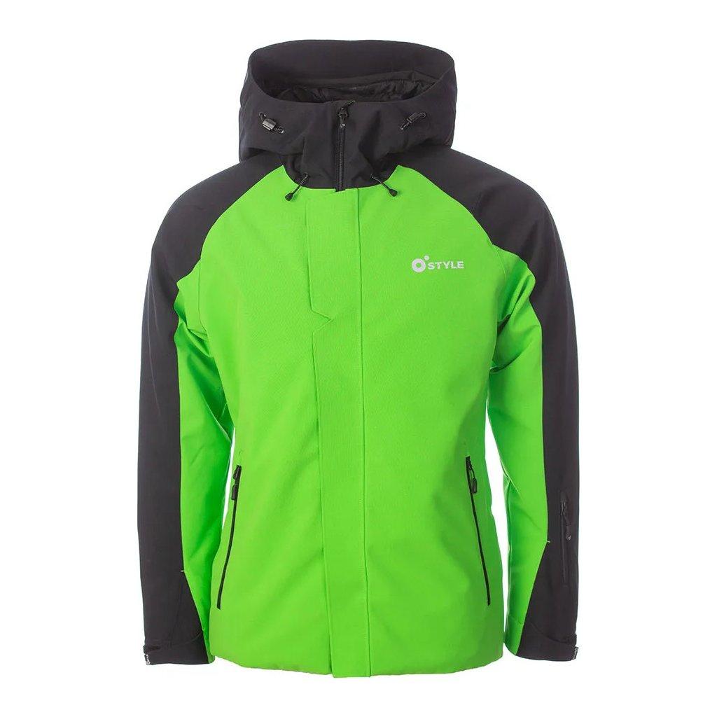 Lyžařská bunda O'STYLE Club zelenočerná