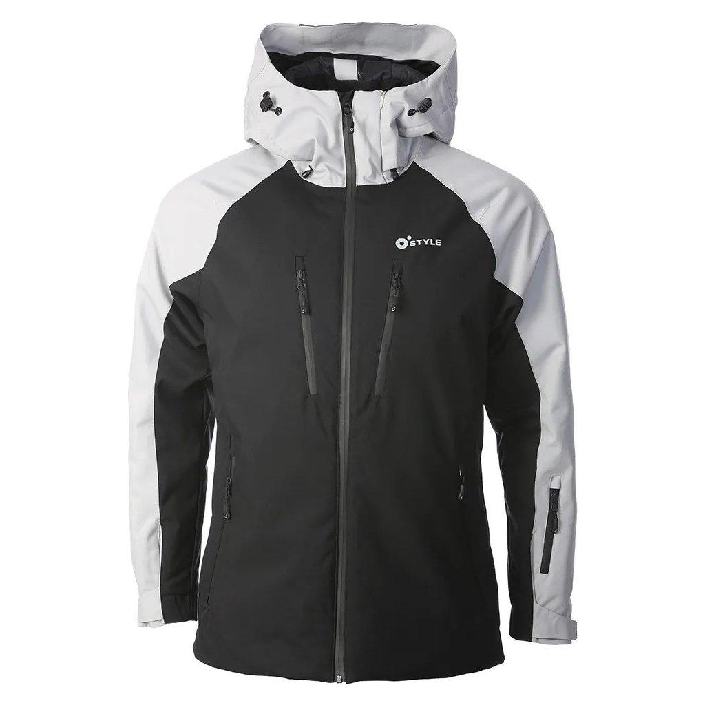 Lyžařská bunda O'STYLE Snow černá/šedá