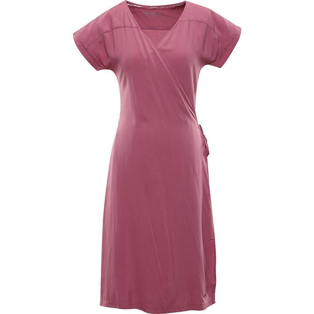 Dámské šaty ALPINE PRO Soleia růžová