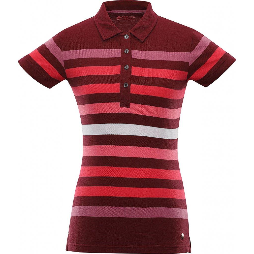 Dámské polo triko ALPINE PRO Bylca červená
