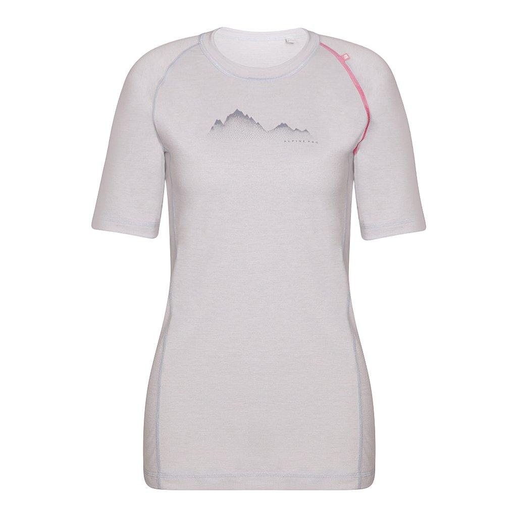 Dámské merino triko ALPINE PRO Merina bílá