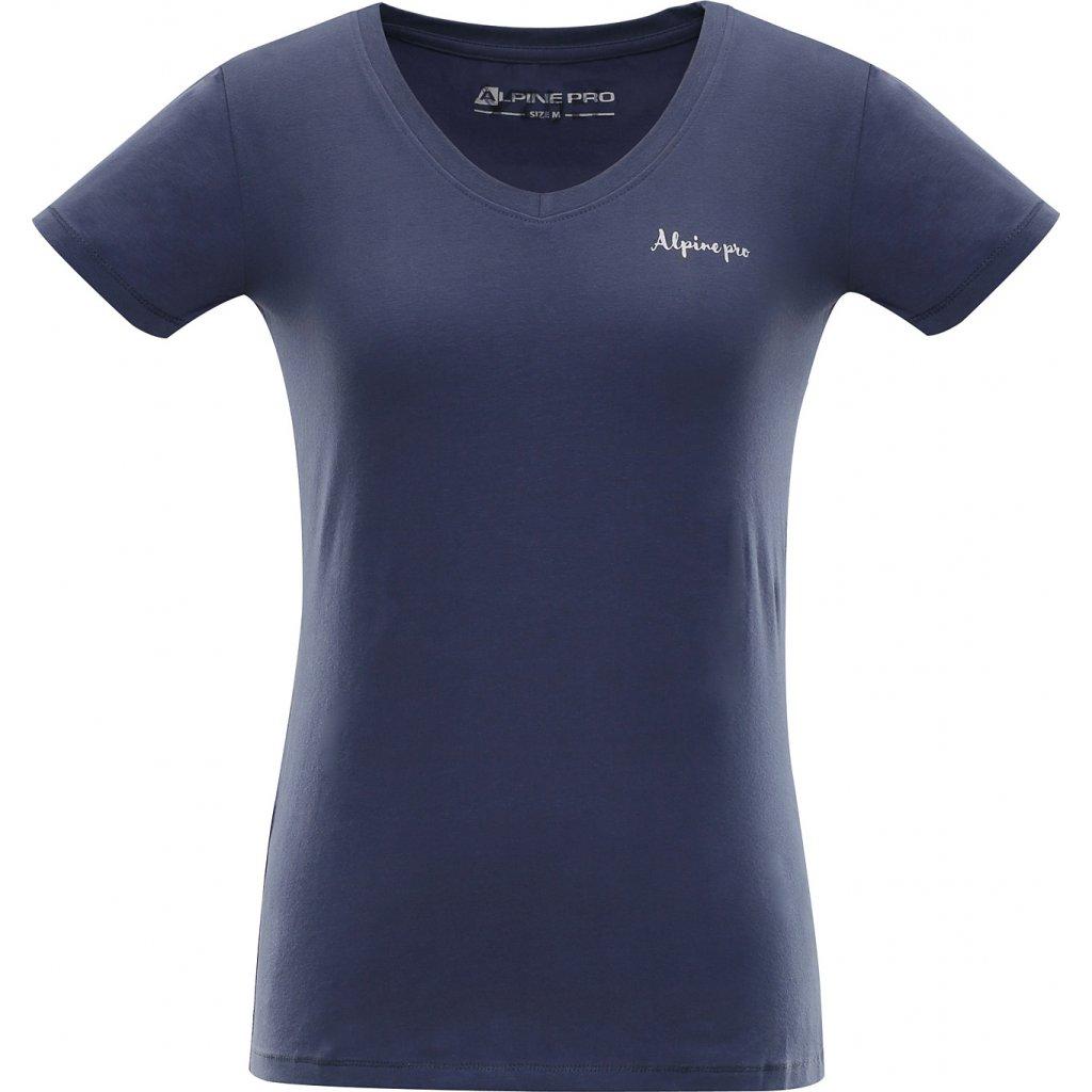 Dámské bavlněné triko ALPINE PRO Luka 2 modrá