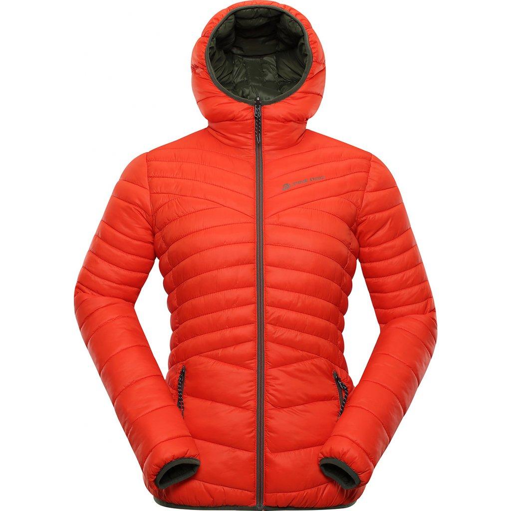 Dámská oboustranná bunda ALPINE PRO Munsra 5 černá/červená