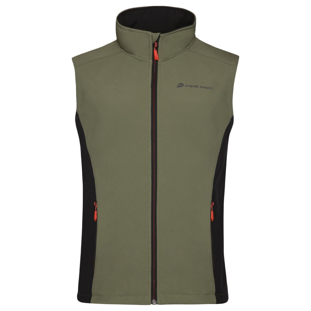 Pánská softshellová vesta ALPINE PRO Asklepios 7 khaki