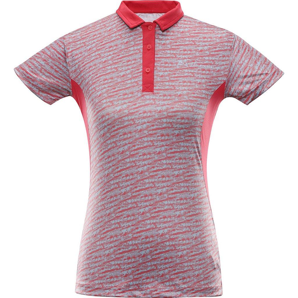 Dámské polo triko ALPINE PRO Istasa 2 růžová