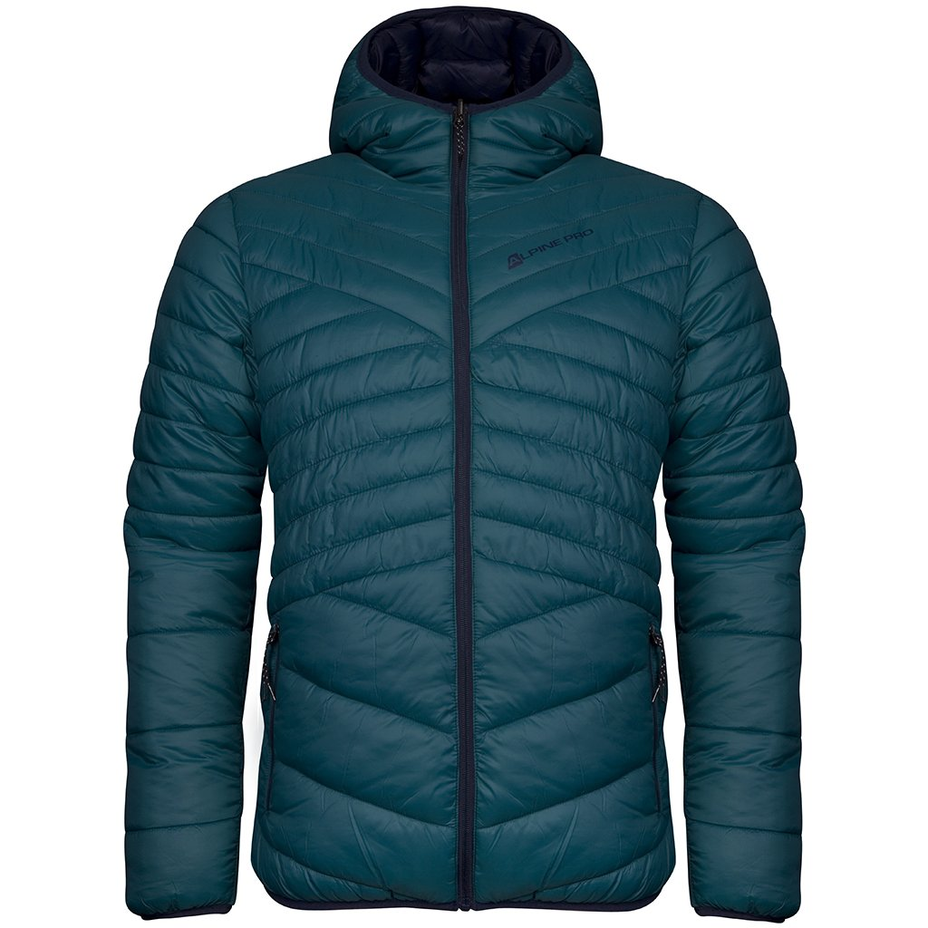 Pánská oboustranná bunda ALPINE PRO Munsr 3 modrá/tyrkysová