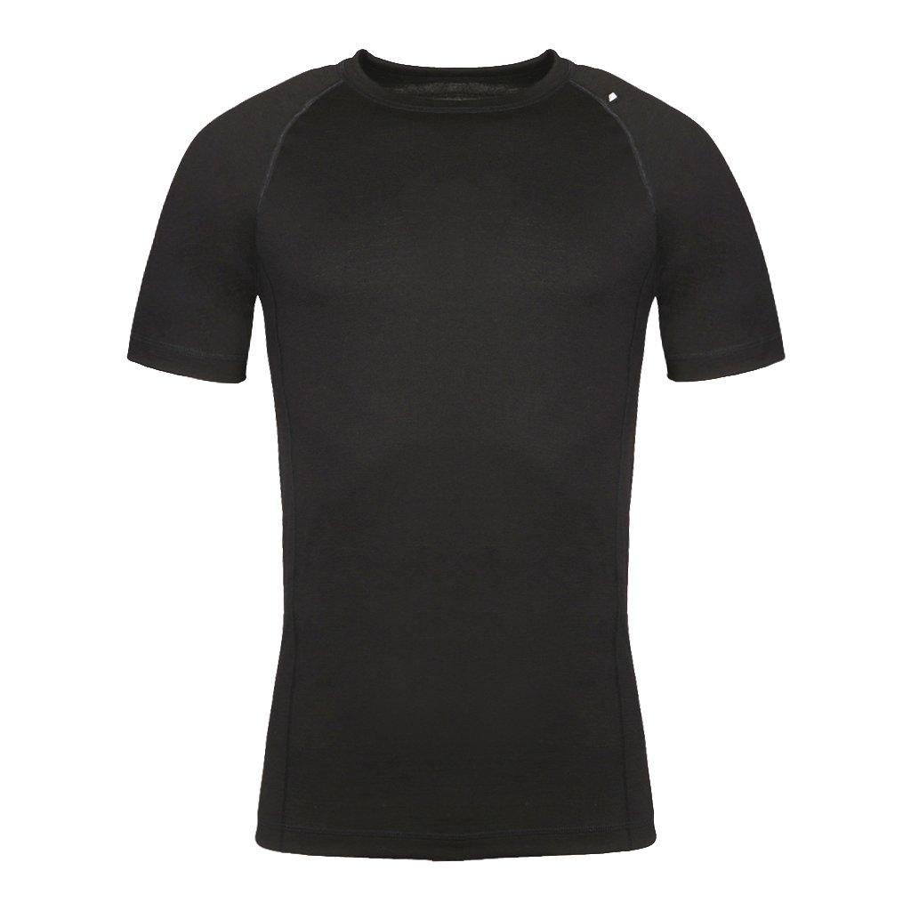 Pánské merino triko ALPINE PRO Merin černá