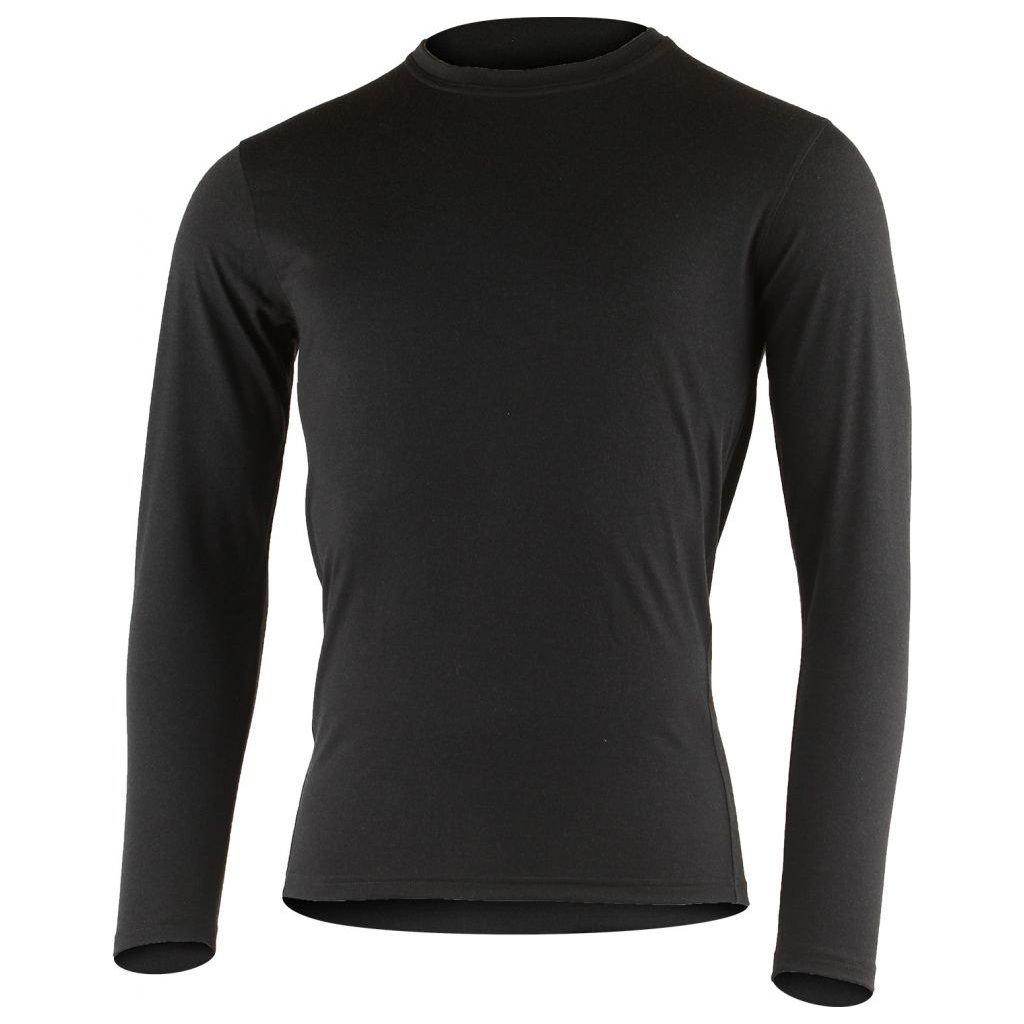 Pánské merino triko LASTING Logan černé