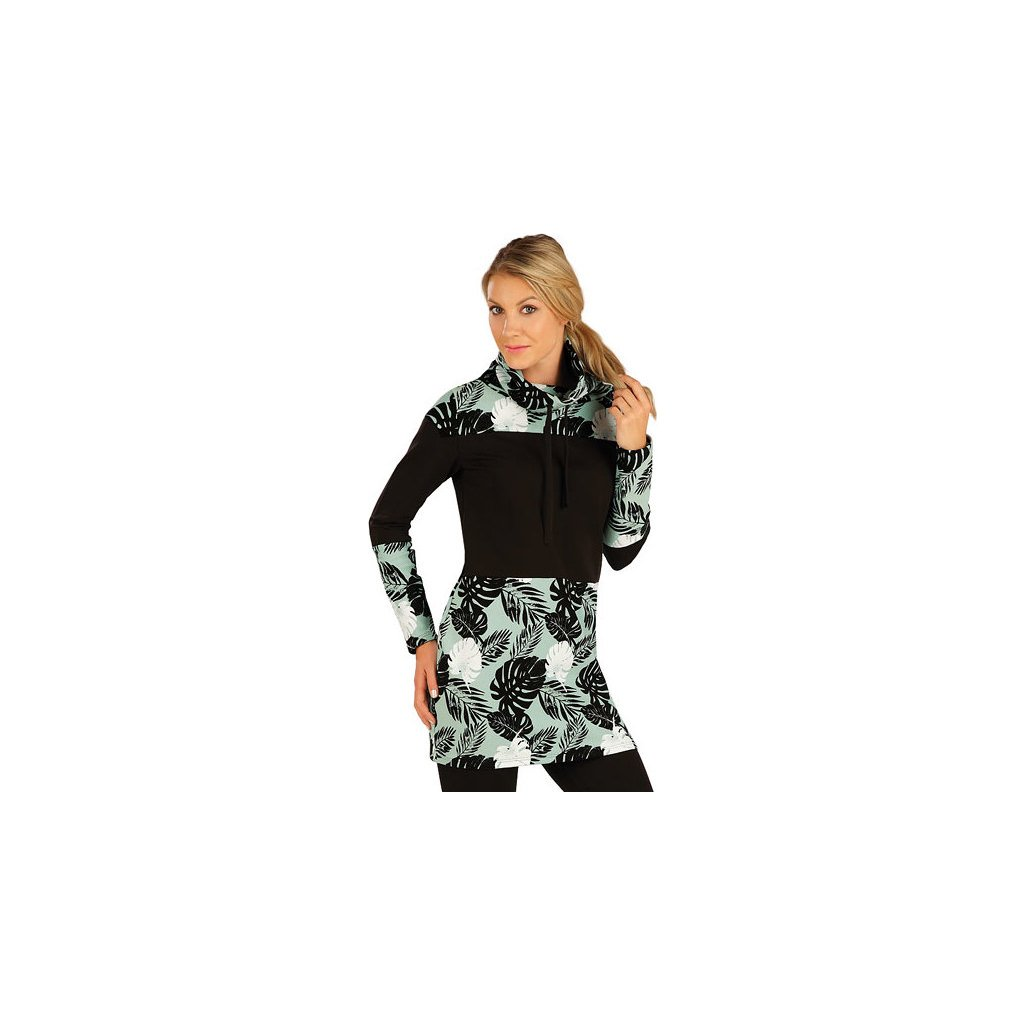 Dámské mikinové šaty LITEX mintová/černá