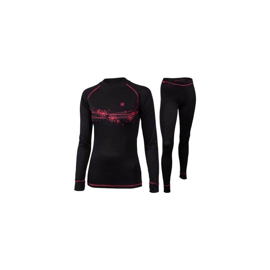 Dámský set zimního prádla KLIMATEX Perosa černá