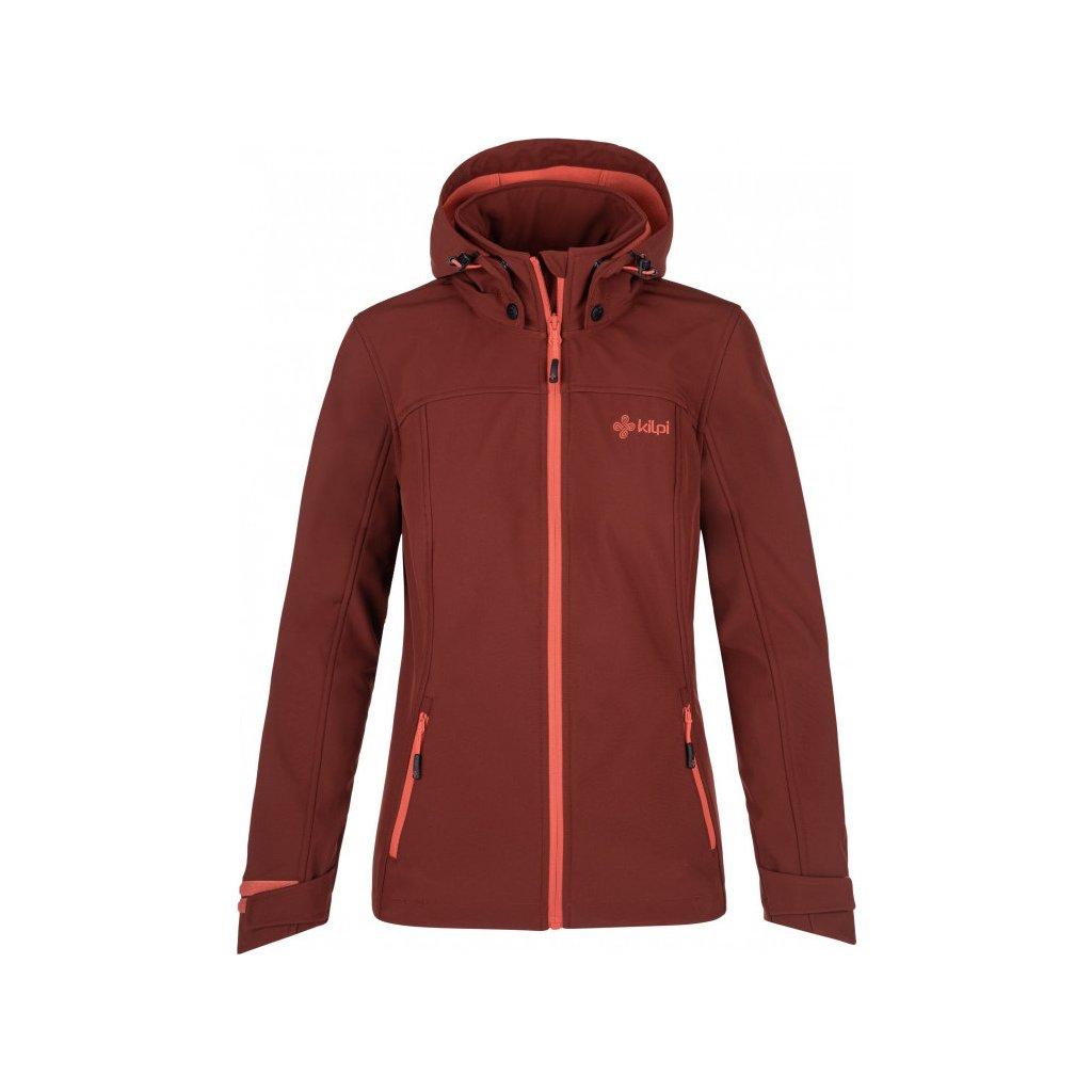 Dámská softshellová bunda KILPI Ravia-w tmavě červená