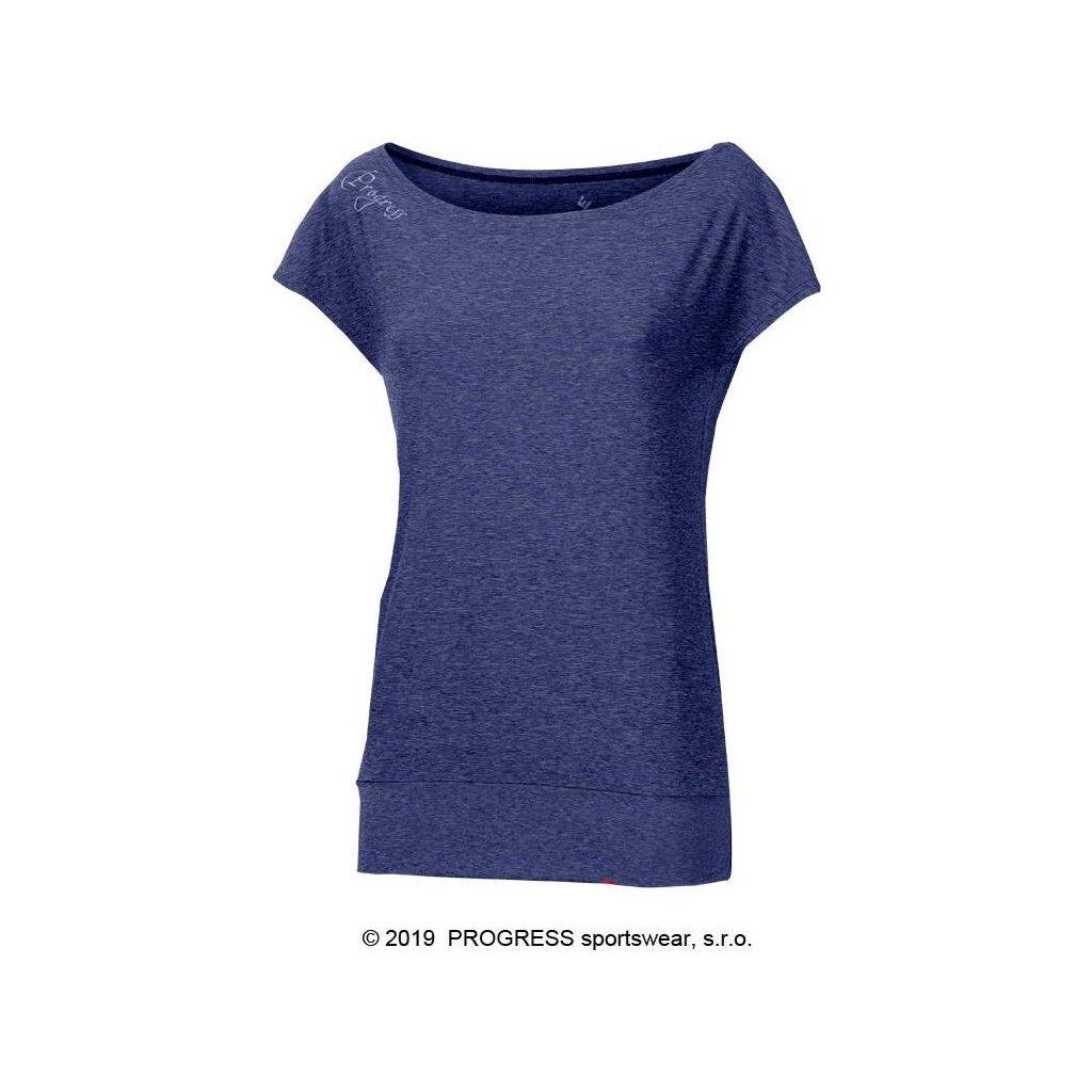 Dámské sportovní tričko PROGRESS Omega tm.modrý melír